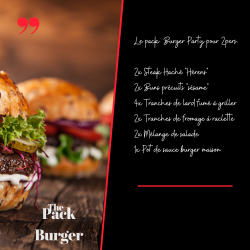 Pack burger party 2 personnes